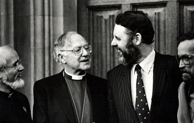 Runcie, Dr Robert; Archbishop of Canterbury and Terry Waite, special envoy, London 11-86_01