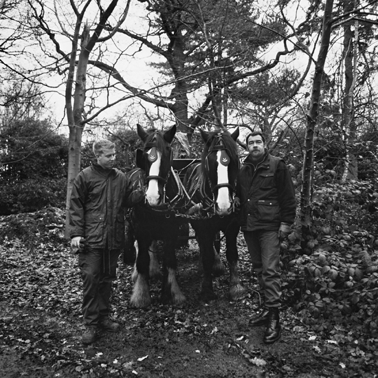 Buxton, Mark and Tristan Lee; estate workers, Richmond Park, 12-2000