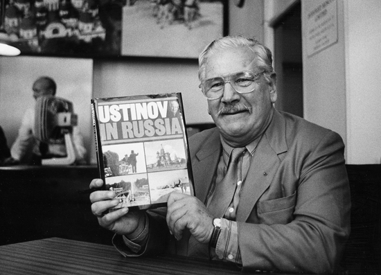 Peter Ustinov; actor, 1987-10 b