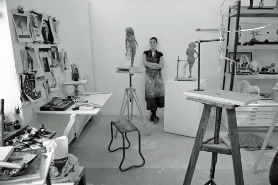 Pilkington, Cathie, RA sculptor, 2014-09 bw 3